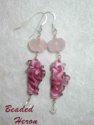 Pink Seashell Earrings