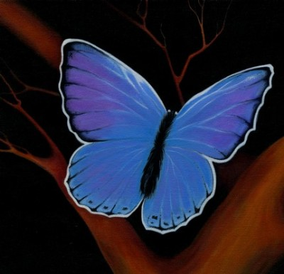 Butterfly on Manzanita print