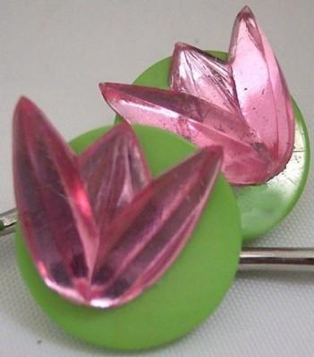 Pink Tulip Bobby Pins