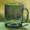 Green Glass Mug by Barbara Haviland
