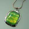 Green Dichroic Pendant by Carmen Trueheart