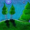 Moon Landscape by Sherry Key