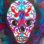Day of the Dead Sugar Skull by Christi Schwartzkopf
