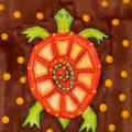Orange Shell Turtle by Sherry Key