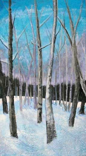 Winter Birches by Judy Vars