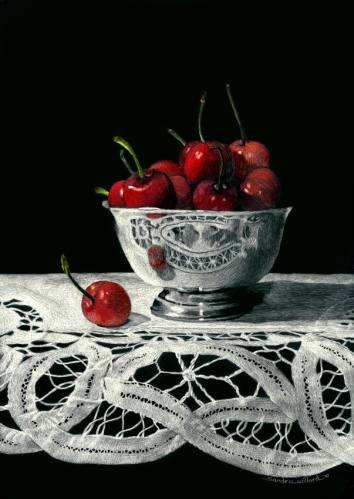 Bowl of Cherries by Sandra Willard