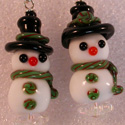 Snowmen Couple by Beaded Heron