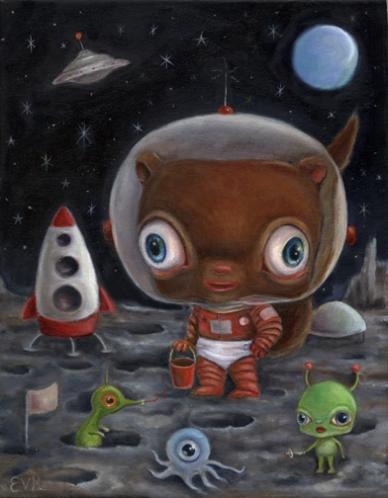Chipmunk on the Moon, Twice by Vicky Knowles