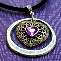 Silver and Lavender Pendant by Chris Kapono