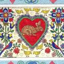 Valentine Fraktur with Bunny by Theodora Demetriades