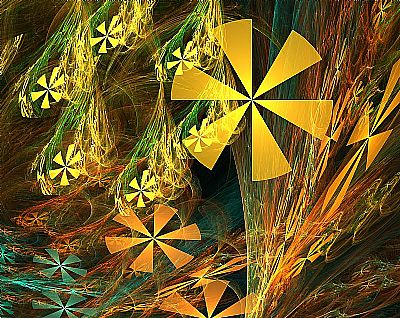 Fractal Wildflowers by Christi Schwartzkopf