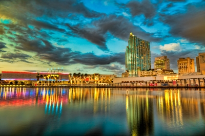 Lights Across Tampa Bay by Michael Glover