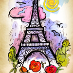 Eiffel Tower by Patricia Lee Christensen