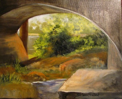 View from Under the Bridge by Barbara Haviland