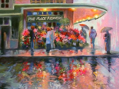 Pike Place Flowers by Patricia Lee Christensen