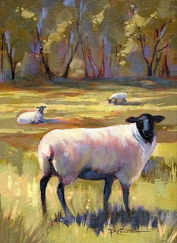 Sheep at Mountain Green by Patricia Lee Christensen