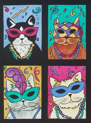 Custom Mardi-Paws Painting $150.00