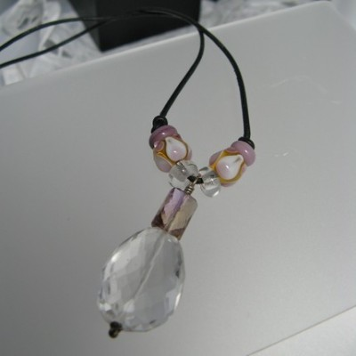 Faceted Crystal Quartz Necklace by Carmen Trueheart