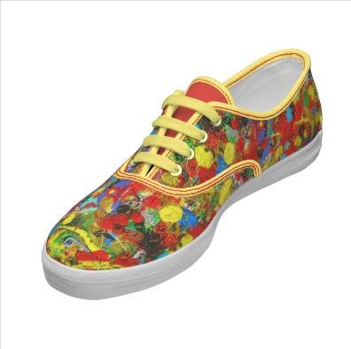 Happy Place - Custom Shoes by Dawn Hough Sebaugh