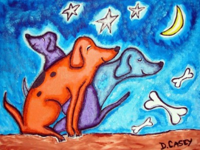 Three Dog Night Print by Diane Casey