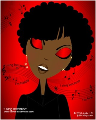 I Sing Because - Print by Shirley Inocenté