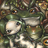Bed of Frogs by Jasmine Becket-Griffith