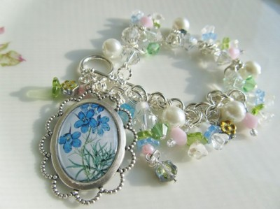 Springtime Blooms Bracelet by Lisa Wiktorek