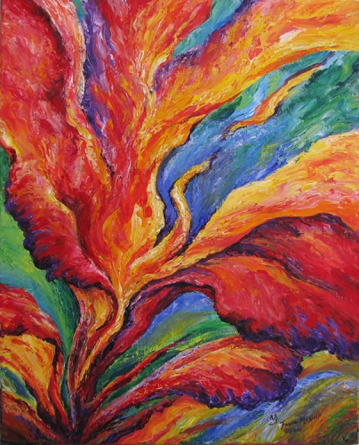 Abstract Iris 4 by Fawn McNeill