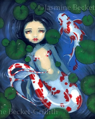 Koi Pond Mermaid by Jasmine Becket-Griffith