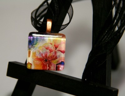 Cherry Blossoms Pendant by Jeanne Forsyth