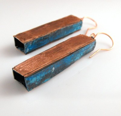 Copper Dangle Earrings by Aimee Koester