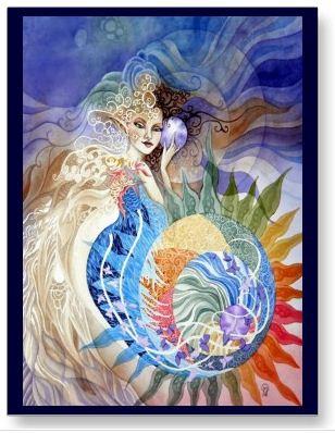 Summer of Love Postcard by Ora Moon