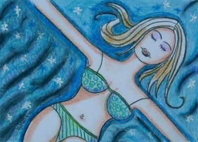 Swimming in a Sea of Stars in the Milky Way ACEO by Sherry Key on Etsy