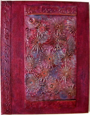 Black Cherry Fireworks Handmade Journal by Elis Cooke