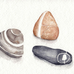 Beach Pebbles by Amanda Makepeace