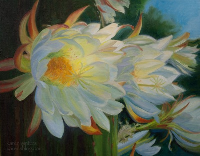 White Cactus by Karen Winters