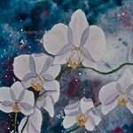 Enchanted White Orchid by Melanie Pruitt