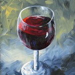 Glass of Red Wine II by Torrie Smiley