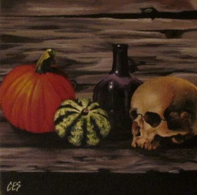 Halloween Still Life by Christine Striemer