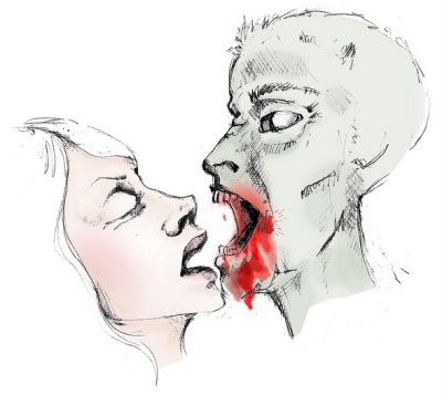 Kiss or Zombie Bite Noelle Hunt