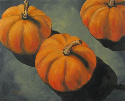 Pumpkins and Shadows by Torrie Smiley
