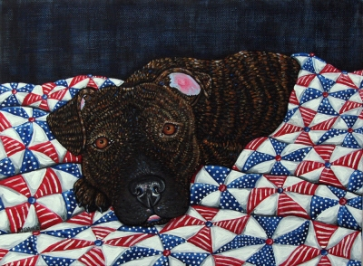 An American Dog 2 by Melinda Dalke