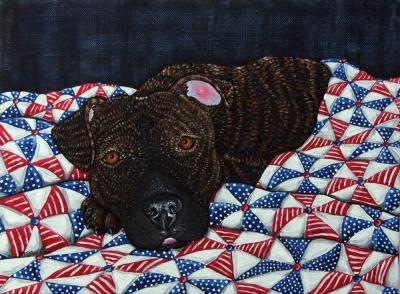 An American Dog 2 by Melinda Dalke