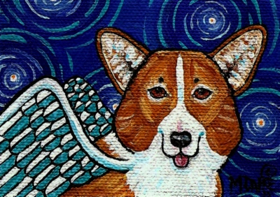 Angel Corgi by Melinda Dalke