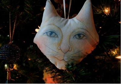 Cat Ornament by Deb Harvey