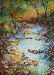 Creek Bed Landscape by Marcia Baldwin