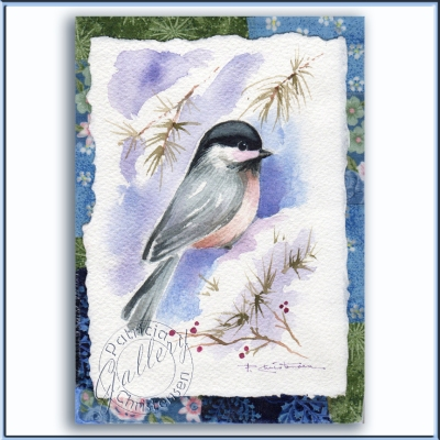 Winter Chickadee by Patricia Christensen
