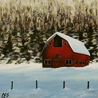Red Barn by Christine Striemer