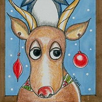 Rudolph and Pengy by Sherry Key