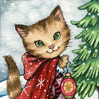 Sparkling Snow ACEO by Carmen Medlin